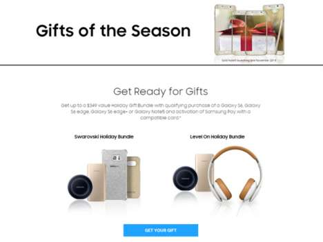 Sparkling Holiday Tech Deals - The Samsung 'Gifts of the Season' Promo Offers New Users Accessories
