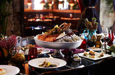 Lobster Brunch Menus - Ananas Bar & Brasserie's Luxe Brunch Service Pairs Seafood and Champagne