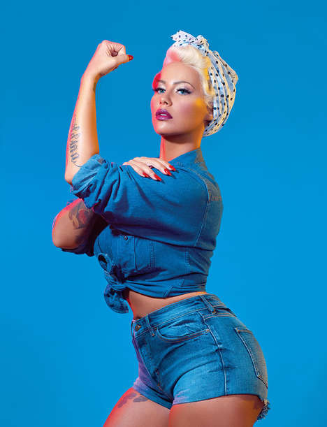 Star-Studded Feminist Editorials - Paper Magazine Has Amber Rose Dress as Feminist Icons and Leaders