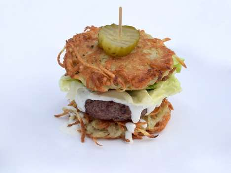Latke-Inspired Burger Buns - This Recipe Provides a New Way to Enjoy a Traditional Hanukkah Dish