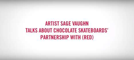 Charitable Crossover Skateboards - The Sage Vaughn for Chocolate(RED) '15 Deck Promotes a Good Cause