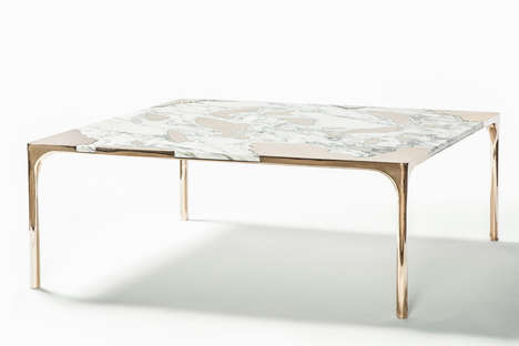 Seeping Marble Tables - This Contemporary Coffee Table Portrays an Avant-Garde Design