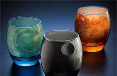 Planetary Galaxy Glasses - These Glass Mugs Feature Celestial Bodies Found in the Star Wars Universe
