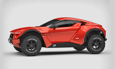 Sand Racer Vehicles - The Zarooq Auto is Designed to Effortlessly Trudge Through Desert Terrain