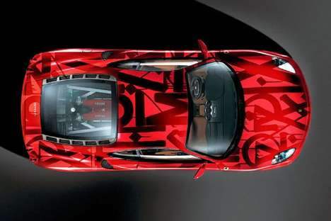 Street Art Autos - The Ferrari F430 Challenge Car is Given an Avant-Garde Finish by Artist RETNA