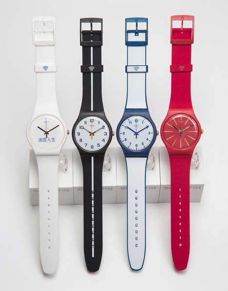 Wireless Payment Watches - The Swatch Bellamy is Supported by Visa with NFC Technology
