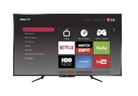 Collaboration Smart TVs - The LG 55LF5700 55-Inch Smart TV Features Roku's Smart TV Platform