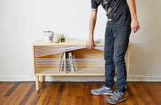 Boxing Ring-Inspired Furniture - The 'Cuerda' Modern Side Table Features Cords Instead of Doors