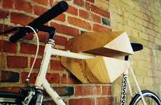 Handy Wooden Bike Hangers