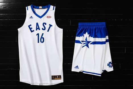 Minimalist All-Star Jerseys - The 2016 NBA All-Star Game Jerseys Boasts Subtle Canadian Attributes