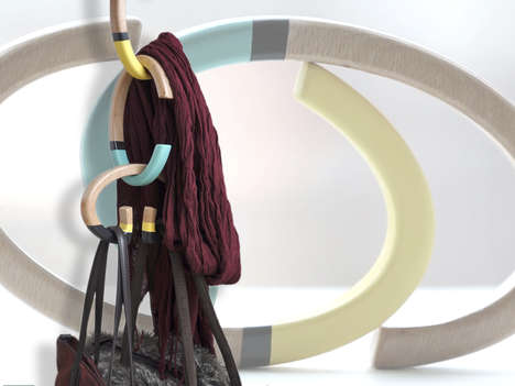 Modular Space-Saving Hangers - This Vertical-Hanging Design Organizes Accessories and Saves Space