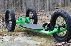 Tri-Wheeled Skateboards - The Trideck Skateboard is Designed For All Kinds of Terrain