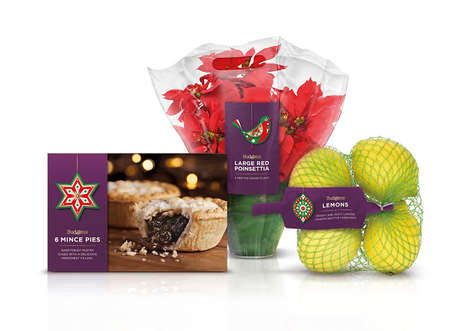 Ready-Made Christmas Packaging - Budgens' Christmas Package Designs Make Holiday Shopping Easy