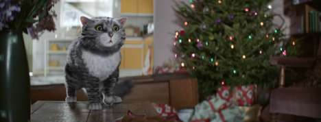 Chaotic Christmas Ads - Sainsbury's Holiday Ad Tells the Tale of Mog's Christmas Calamity