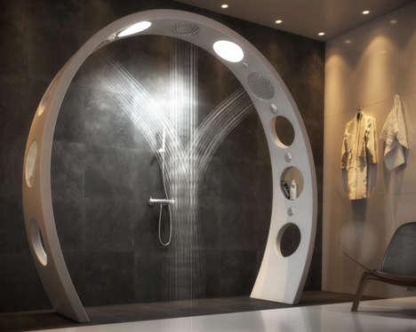 Triple-Stream Showers - The Conceptual QS Supplies Modern Shower is Designed to Relax and Cleanse