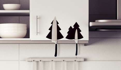 Christmas Tree Blade Catchers - These AMOD-DOMA MAG Magnetic Knife Holders are Holiday-Themed