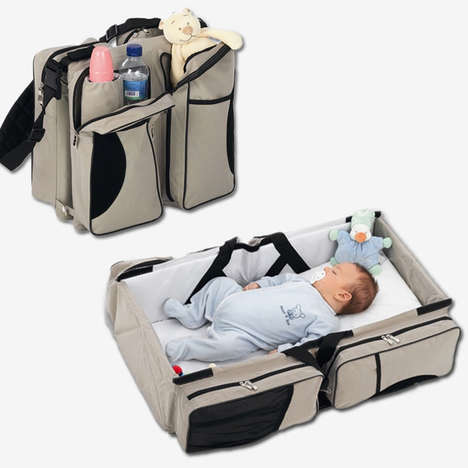 Transformative Diaper Bags - Quicksmart's Three-in-One Travel Bassinet Transforms from Bag to Bed