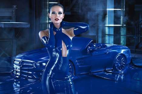 Fashionable Auto Campaigns - Natasha Poly Models for Mercedes' 'Obsession With An Icon' Film