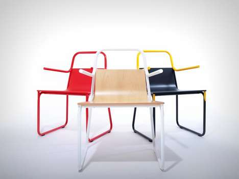 Modular Pipe Seating - The Intube Armchair Design Creatively Use Wiring to Offer a Sleek Chair