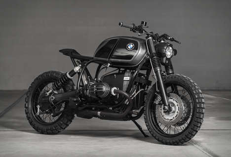 Rugged All-Terrain Motorcycles - The Vagabund BMW R100R Bike Offers Luxury Off-Road Driving