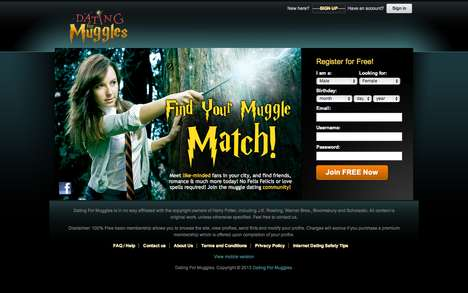Wizardly Dating Sites - The Dating for Muggles Platform Romantically Matches Harry Potter Fans