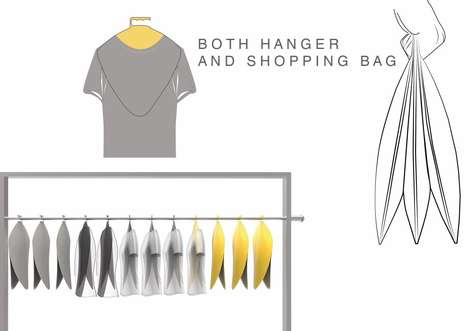 Shopping Bag Hangers - The 'Takeaway' Hanger Bag Provides a More Streamlined Solution for Retail