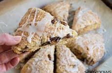 Festive Eggnog Scones - These Breakfast Pastries are Filled with Seasonal Winter Flavors