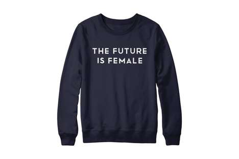 Empowered Feminist Sweaters - Cara Delevingne's The Future is Female Shirts Celebrate Woman