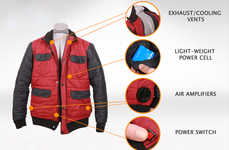 Self-Drying Jackets - This Stylish Rain Jacket is Capable of Drying Itself in Mere Seconds