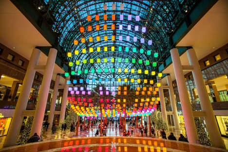 Prismatic Lantern Canopies - NYC's Brookfield Place is Made Over with the 'Luminaires' Installation