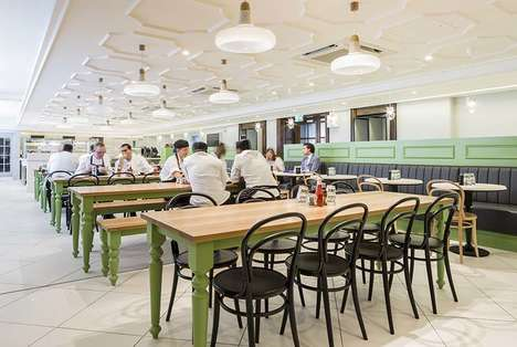 Staff Food Hall Makeovers - Fortnum & Mason's Staff Restaurant Has Undergone an Overhaul