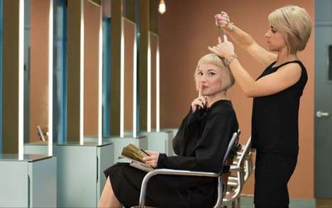 Quiet Salon Chairs - The Bauhaus Hair Salon Eliminates Small Talk with the Quiet Chair