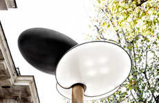 Sun-Powered Lampposts - This Artist Created a Collection of Tree-Mimicking Solar Street Lamps