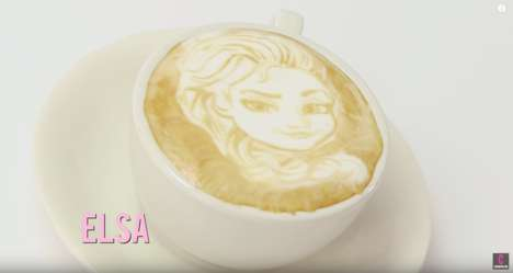 Disney Princess Latte Art - These Coffee Creations Feature the Faces of Iconic Disney Characters