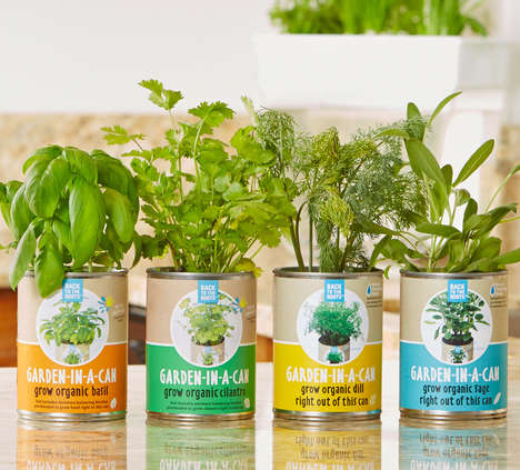 Canned Organic Gardens - The 'Garden-in-a-Can' Herb Garden Kit is a One-Step Way to Fresh Greens