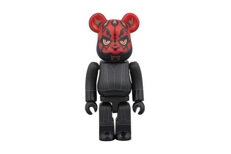 Villainous Sci-Fi Figurines - This Bearbrick Medicom Toy is Modeled After Darth Maul