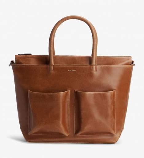 Sustainable Diaper Bags - Matt & Nat's Stylish Diaper Bag is Made from Vegan Leather