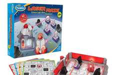 Optics-Teaching Board Games - The 'Lazer Maze' Junior Board Game Teaches Science During Gameplay