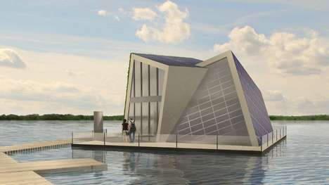 Self-Sufficient Floating Homes - This Energy Efficient Home Design Takes to Water for Living