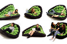 Personalized Pilable Seating - The Lullock Chair Cushions Creatively Mold to the Sitter's Shape