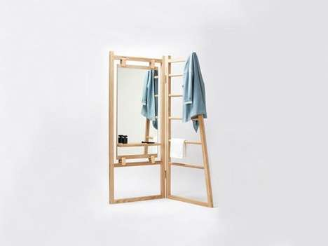 Storage Room Dividers - The Le Valet Privacy Shutter Also Doubles Up as a Vanity Table