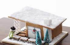 Modern Gingerbread Homes - This Modular Cookie Holiday House Offers Contemporary Design Elements