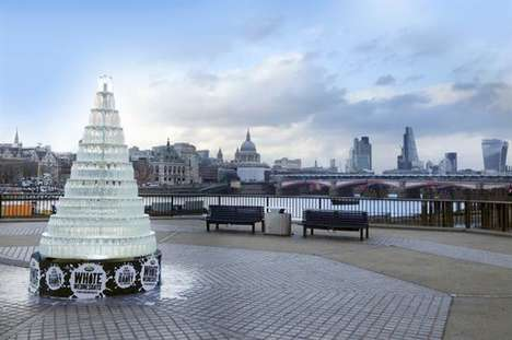 Milk Bottle Christmas Trees - Arla Foods UK is Celebrating the Holidays with a Dairy-Inspired Tree