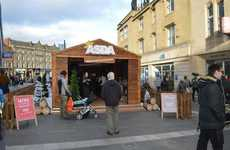 Pop-Up Ski Lounges - This Asda Christmas Pop-up Replicates an Après Ski Lodge Experience