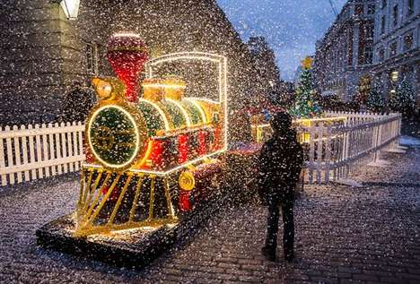 Life-Sized LEGO Trains - This Year's Christmas Build from LEGO is a Massive Locomotive