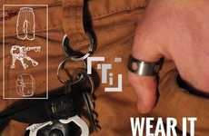 Titanium Tool Jewelry - The Titanium Hex-Bit Driver Ring is Capable of Getting Tasks Done Fast
