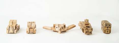 Modular Wooden Robots - These 'WooBots' Toys are Made of Wood and Transform Into Various Objects
