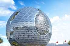 Spherical Glass Skyscrapers - The Technosphere in Dubai Offers Outdoor Patios as an Ecosystem Design
