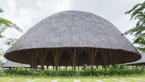 Bulging Bamboo Pavilions - This Bamboo Pavilion is Functional and Visually Beautiful