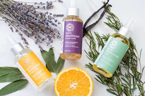 Essential Oil Deodorants - The Honest Natural Deodorants are Dispensed in a Spray Bottle Design